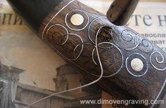 """Incrustation """"line"""" metal in wood by Evgeni"""