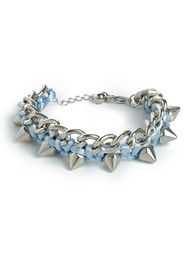 our rainbow spike links in blue!