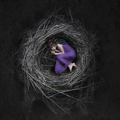 #nesting.... I guess this #image kinda #refers to the #life i live right now. #building our #house #gettingmarried and all that. #bird #youngone #model #nest #stubbornphotography #stubborn #photoshop #photographer #photographicartist #artwork #safety #nordic
