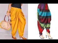 In this video i will show you How to make latest designer dhoti harem pants cutting and stitching tutorial DIY (Hindi version) The fabric you will need is Salwar Designs, Blouse Designs, Heram Pants, Plazzo Pants, Salwar Pattern, Pants Tutorial, Stitching Dresses, Pants For Women, Clothes For Women