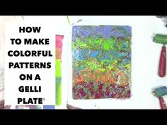 How to use a Gelli print® in your art journal - YouTube