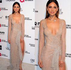 "#Moda Eiza González, ""vestida para matar"" en una pieza Celia Kritharioti para la gala de Elton John. ¿Te gusta su estilo?"