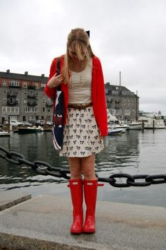 Yes I hear you calling my name Red Hunter boots