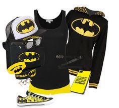 """Batman/Batgirl"" by blondeprincess623 ❤ liked on Polyvore"