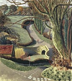 Simon Palmer i David Hockney. Czarodzieje z Yorkshire Landscape Artwork, Watercolor Landscape, Landscape Design, Guache, David Hockney, Naive Art, Limited Edition Prints, That Way, Countryside
