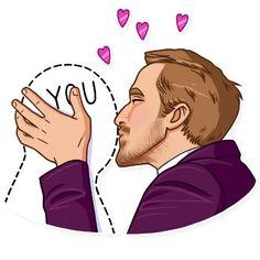 Набор стикеров для Telegram «Райан Гослинг» Emoji Man, Illustrators, Funny Lady, Men Art, Stickers, Characters, Trading Cards, Faces, Masculine Art