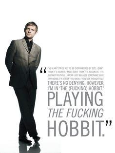 That's right, Martin Freeman is John Watson in BBC's Sherlock and Bilbo Baggins in The Hobbit.this is a wonderful quote. Martin Freeman Hobbit, Martin Freeman Funny, Midle Earth, Youtubers, Benedict And Martin, Bilbo Baggins, Thorin Oakenshield, Nerd Love, Sherlock Bbc