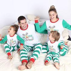 Family Match Christmas Pjs Pajamas Pyjamas Women Men Kids Sleepwear Nightwear US Family Pajama Sets, Matching Family Pajamas, Matching Family Outfits, Matching Clothes, Matching Family Christmas Pjs, Christmas Clothes, Christmas Pyjamas, Christmas Outfits, Pyjamas Assortis