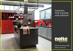 Shades of red reflect passion in your kitchen. Just like your personality is reflected in everything you do. Visit: http://www.homestudioindia.com/ #ModularKitchens #Kitchens