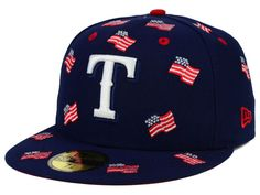 Texas Rangers New Era MLB All Flags 59FIFTY Cap Hats