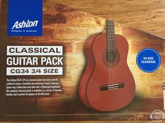 These are the perfect size beginner's classical pack, includes gig bag, strap and online lessons. Online Lessons, Classical Guitar, Campaign, Music Instruments, Packing, Drop, Medium, Products, Bag Packaging