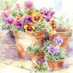 Garden Pots - Rose Eddington