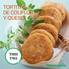 Tortitas de Coliflor y Queso