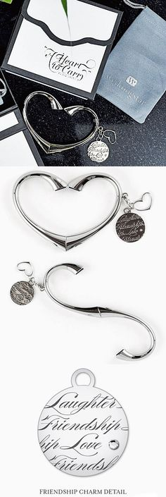 """""""A Heart To Carry"""" Purse Valet with Charm and Gift Packaging"""
