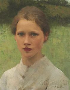 Sir George Clausen (1852-1944) A Village Maiden,