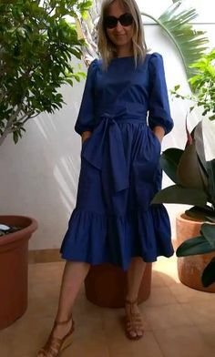 Apron Dress, Ruffle Dress, Ruffles, Casual Dresses, Fashion Dresses, Mode Abaya, Poplin Dress, Tiered Dress, Mode Inspiration