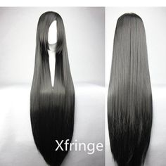 Long Black Cosplay Wig Straight Black Wig Cosplay Anime by xfringe, $13.99