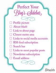 When it comes to your blog's sidebar, have you included all the elements you need to? Or are you guessing? Get our FREE sidebar checklist download now.