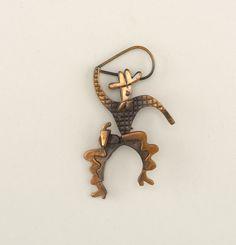 Copper cowboy brooch designed by Frank Rebajes, c.1945.