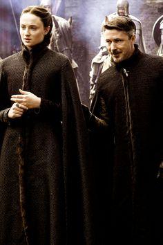 Petyr Baelish and Sansa Stark, Game of Thrones.