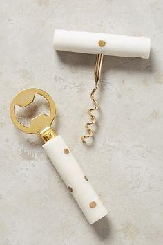 Brass Dotted Barware #corkscrew #bottleopener