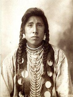 Blanket Robe (aka Miles Big Spring). Blackfoot. 1898. Photo by F.A. Rinehart.