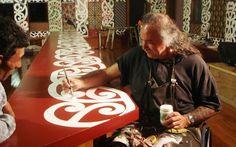 David Cameron, 12 years painting kowhaiwhai in Te Poho o Hiraina in Gisbourne Maori Art, David Cameron, Painting Patterns, Culture, Wood Carvings, Wall Art, History, Style, Design