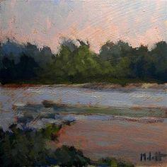 """Sunrise Lake"" - Original Fine Art for Sale - © Heidi Malott"
