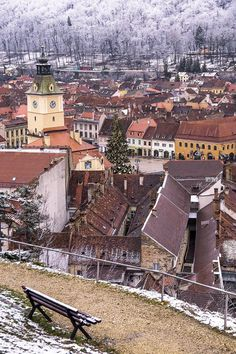 Brasov Winter Time Old Town #Romania #Travel #Europe #cities #Beautiful #OldTown #ThingsToDo #architecture