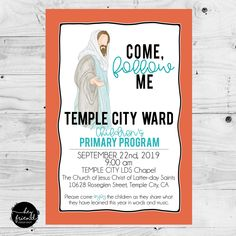 """Primary Program- """"Save the Date Cards"""" – Hey Friend! Jesus Sketch, Primary Program, Print Place, Text Types, Black And White Design, Printable Invitations, Denial, Coloring For Kids, Save The Date Cards"""