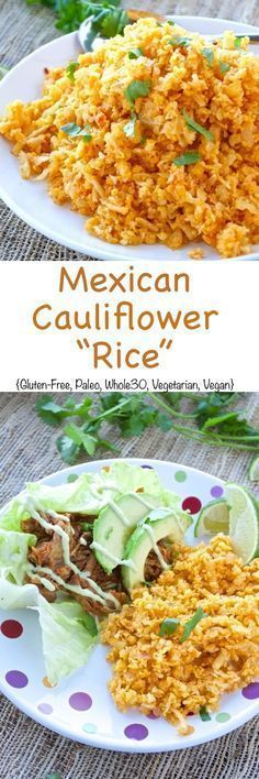 All the flavors from All the flavors from traditional Mexican Rice without all the carbs! This version uses cauliflower in place of rice, which makes it the perfect light and healthy side dish.