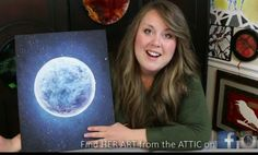 How to Paint a Moon & Star filled Sky