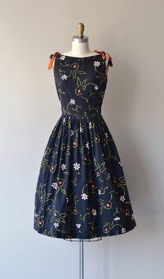 Rabbit Rabbit dress vintage 1950s dress cotton 50s by DearGolden