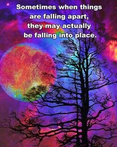Falling apart...or falling into place?