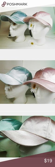 Silky Ivory Pink and Baby Blue Baseball Cap This comes with both pink and baby blue hats. These gorgeous high quality baseball caps will give you the glow up you deserve. They are chic and fabulous. Size adjustable. Perfect for any girl who loves a sporty look with a fabulous taste. They are soft and have a luxurious look to them. primark Accessories Hats