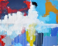 Colors, abstract painting. Rainy Day by Mia Linnman