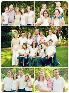 large family photographed outside in a park in Pretoria, South Africa/ in the light photography