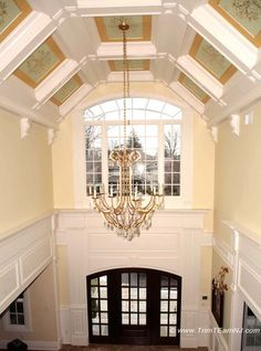 1000 images about coffered ceilings on pinterest for Coffered cathedral ceiling