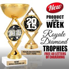 Need To #Reward Your #Team For An Amazing #Season This Year? Crown's New Royale Diamond #Trophies Are Just The Thing For You! These Awards Are Sure To Please Any Player, Any Sport & Any Age!  https://www.crownawards.com/StoreFront/4W8.Royale_Diamond_Trophies.cat