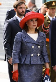 Grand Duchess Maria Teresa of Luxembourg attends pilgrimage