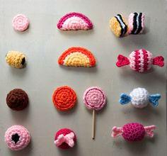 Crochet candy / bonbons en crochet.