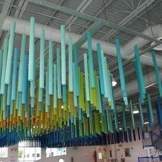 Splash! Sculpture in the Betty T. Ferguson Recreation Center Aquatic Facility features pinta acoustic's SONEX® Rondo Baffles