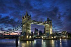 blue hour Tower Bridge, London