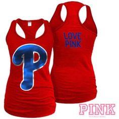 36d43cb994d4 PINK Victoria s Secret Phillies Tank Top PINK Victoria s Secret Philadelphia  Phillies Tank Top with blue sequins