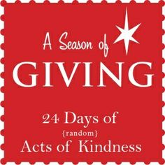 random+acts+of+kindness+for+Christmas | Random Acts of Kindness Series | CHRISTMAS IDEAS