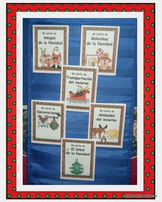 Spanish Winter Mini Guided Reading Books Colored
