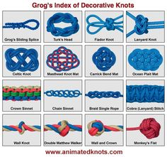 Pictures of Common Decorative Knots