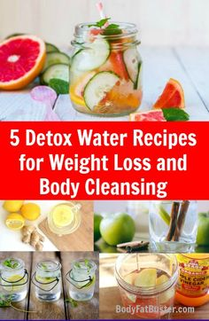 5-Detox-Water-Recipes-for-Weight-Loss-and-Body-Cleansing.jpg (449×689)
