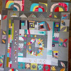 Round Robin quarter circle border - Felicity Quilts