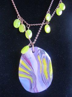 collar resina +polimer clay.Lucia Vega